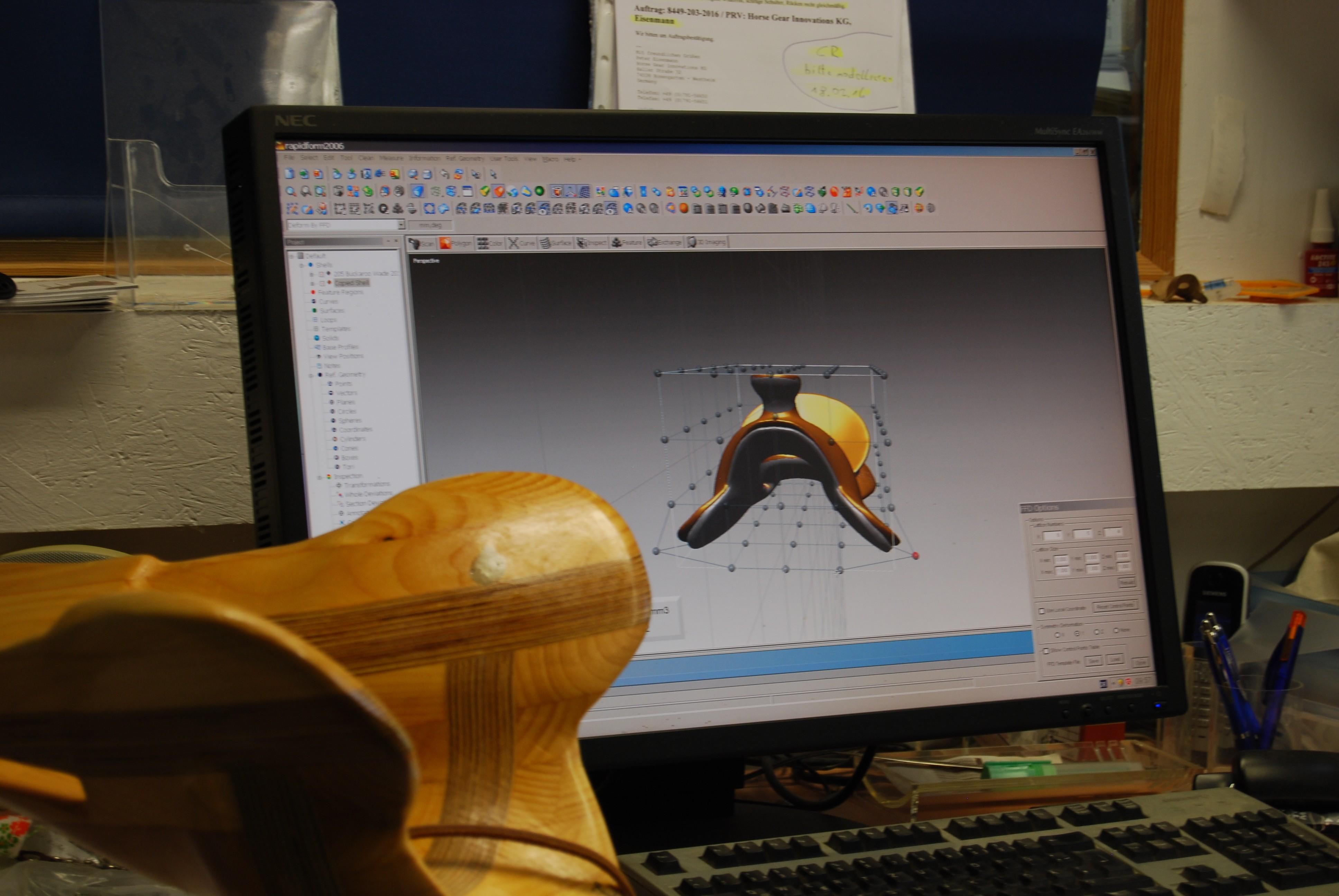 CAD Sattelkonstruktion