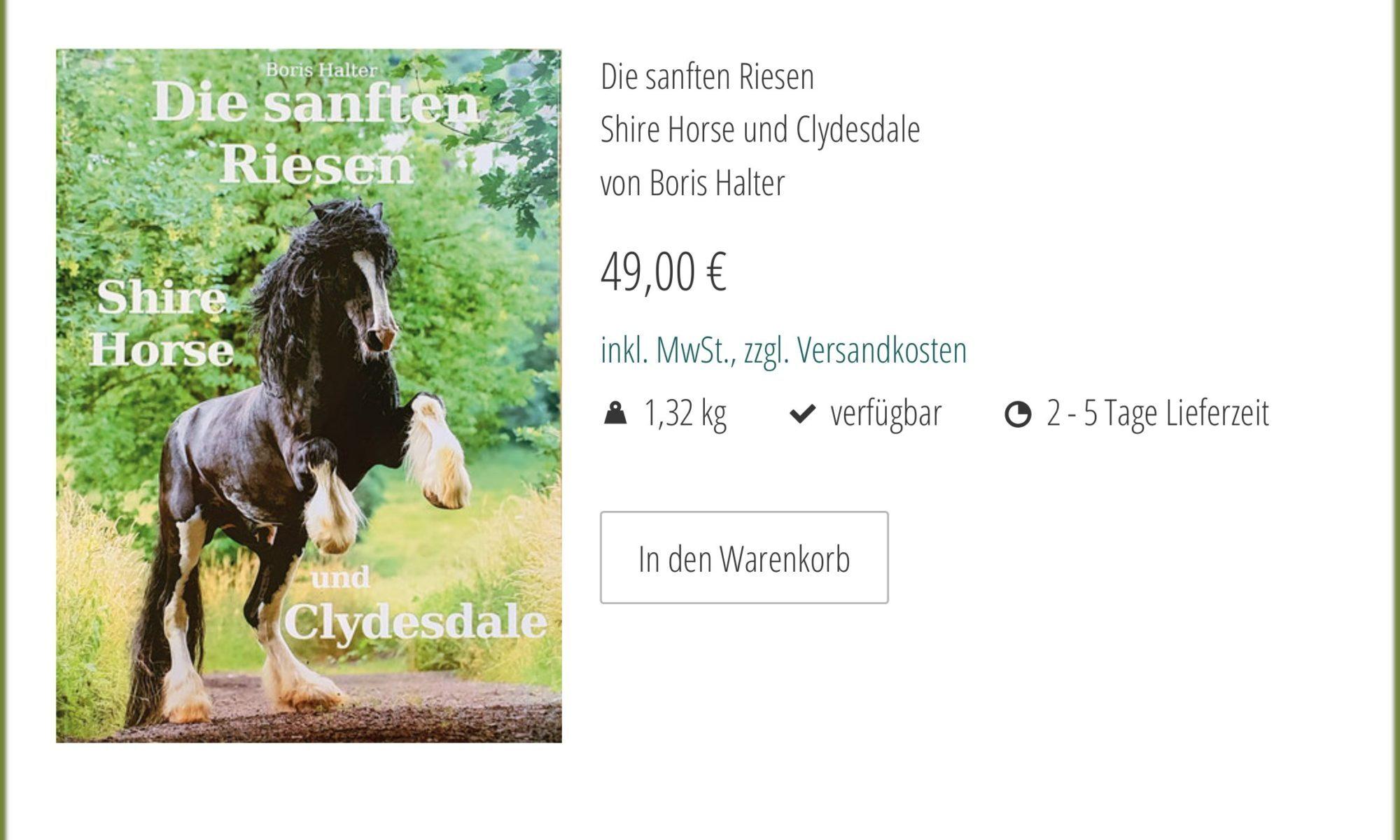 Screenshot aus dem Online Shop des Starke Pferde Verlages